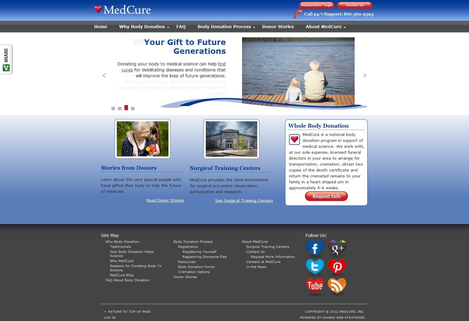 MedCure custom home page