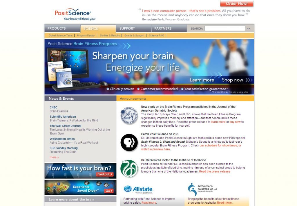 Posit Science - Home page