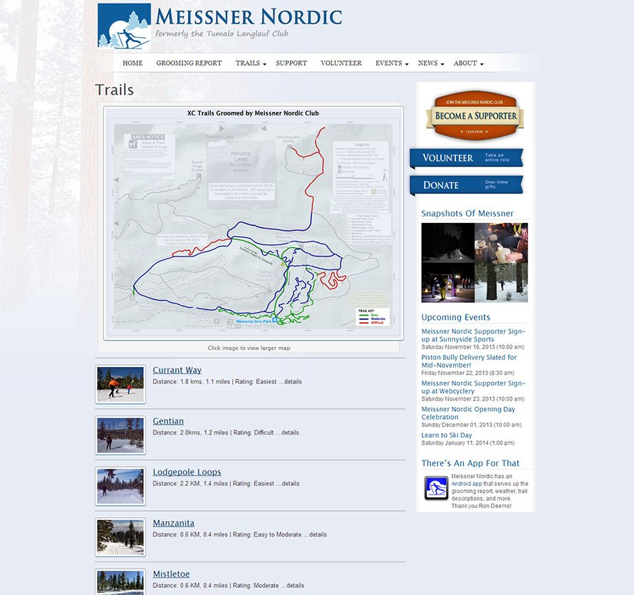 Trail maps created for Meissner Nordic