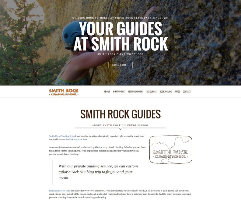 Smith Rock Climbing Guides home