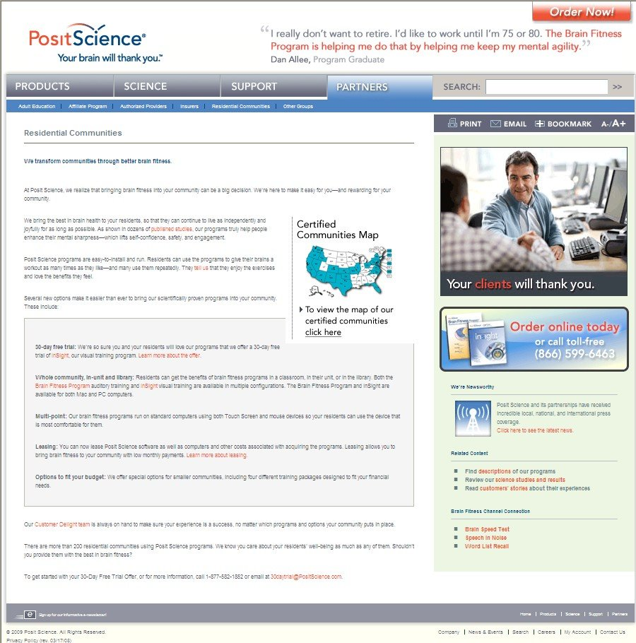 Posit Science - Partners page