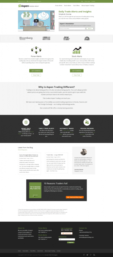 Aspen Trading - full home page