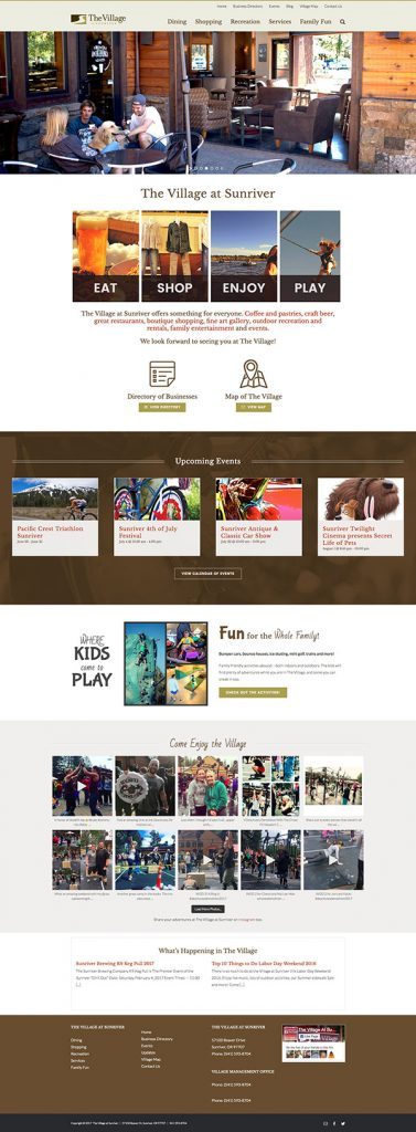 The Village at Sunriver - home page