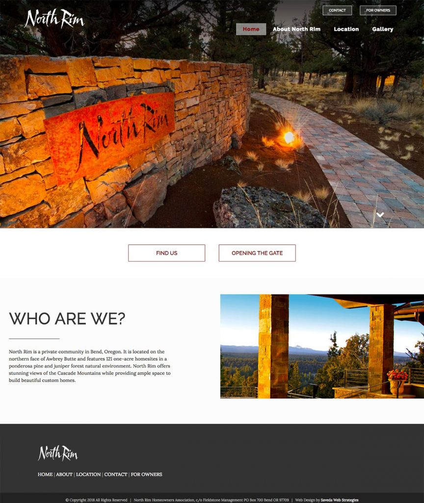 North Rim - clean, responsive design