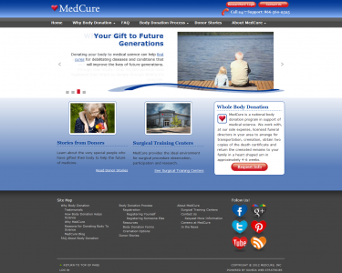 MedCure custom home page