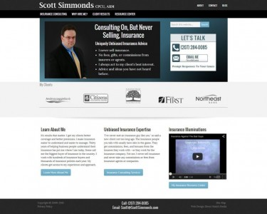 Scott Simmonds home page