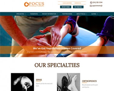 Redesign and refresh of Focus Physical Therapy website