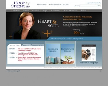 Hood & Strong LLC - Revised Home page